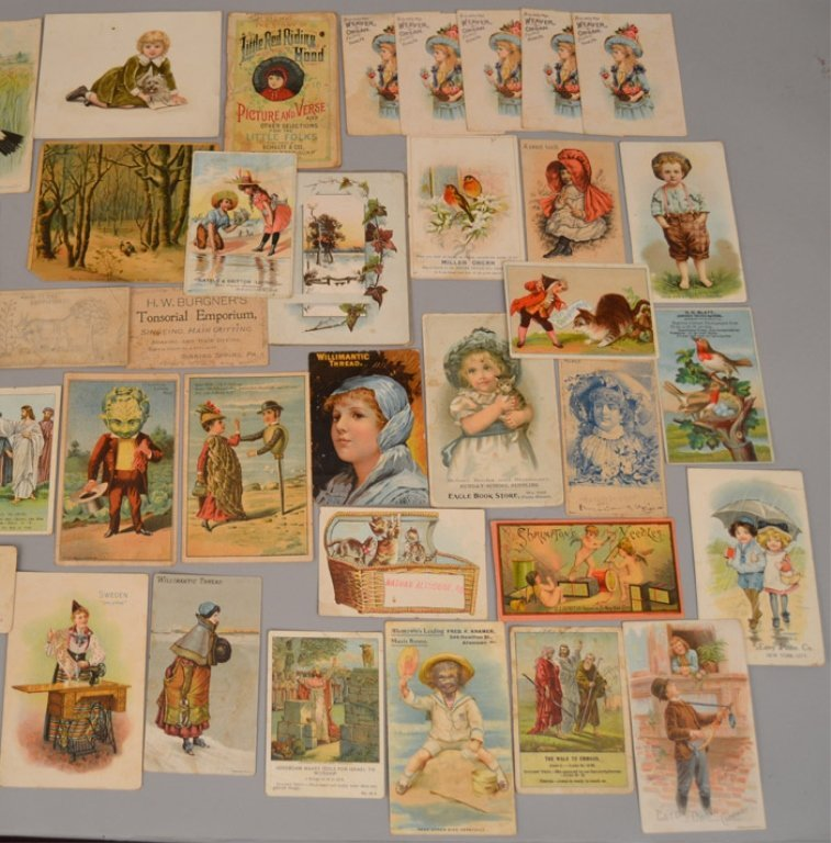 Lot of Victorian trade cards and die cuts - 6