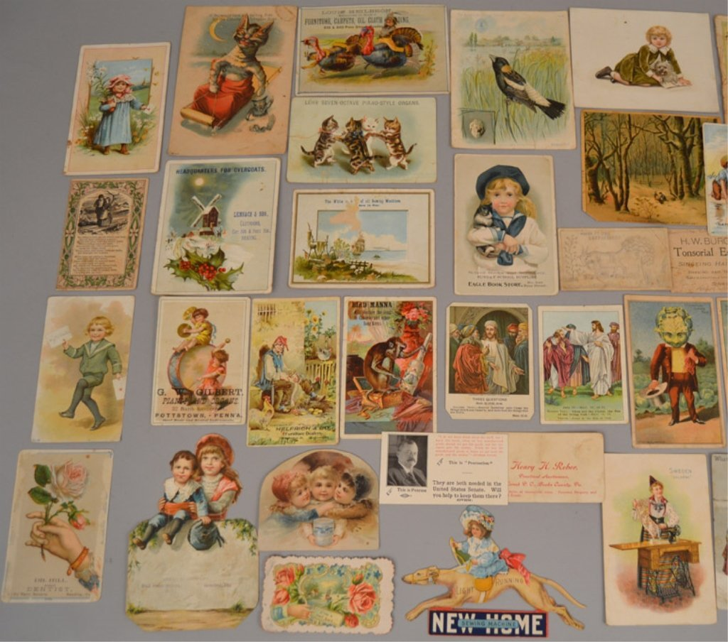 Lot of Victorian trade cards and die cuts - 7