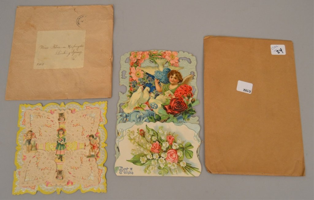 Two Victorian pop up cards