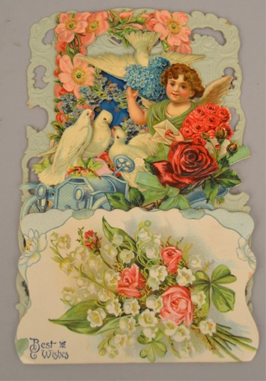 Two Victorian pop up cards - 2