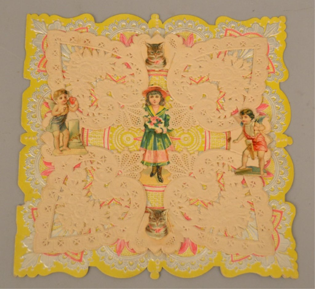 Two Victorian pop up cards - 7