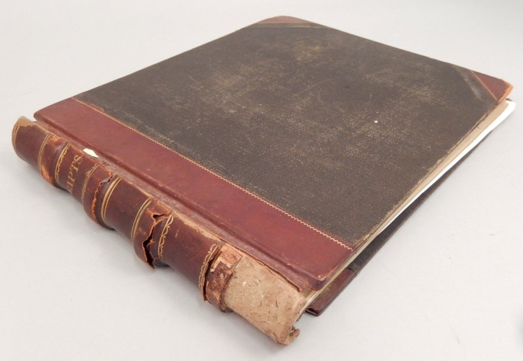 Late 19th C. receipt book