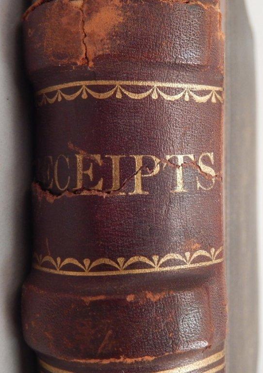Late 19th C. receipt book - 2