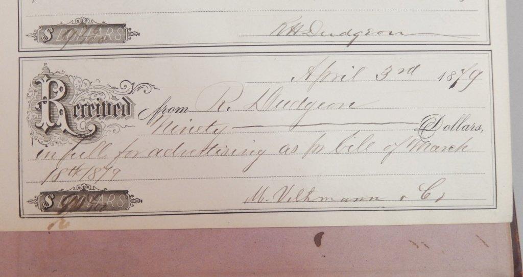 Late 19th C. receipt book - 6