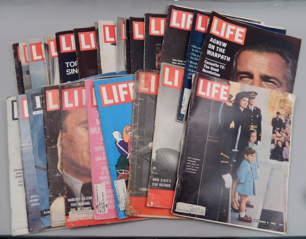 Lot of Mid 20th C. Life magazines and Post magazine
