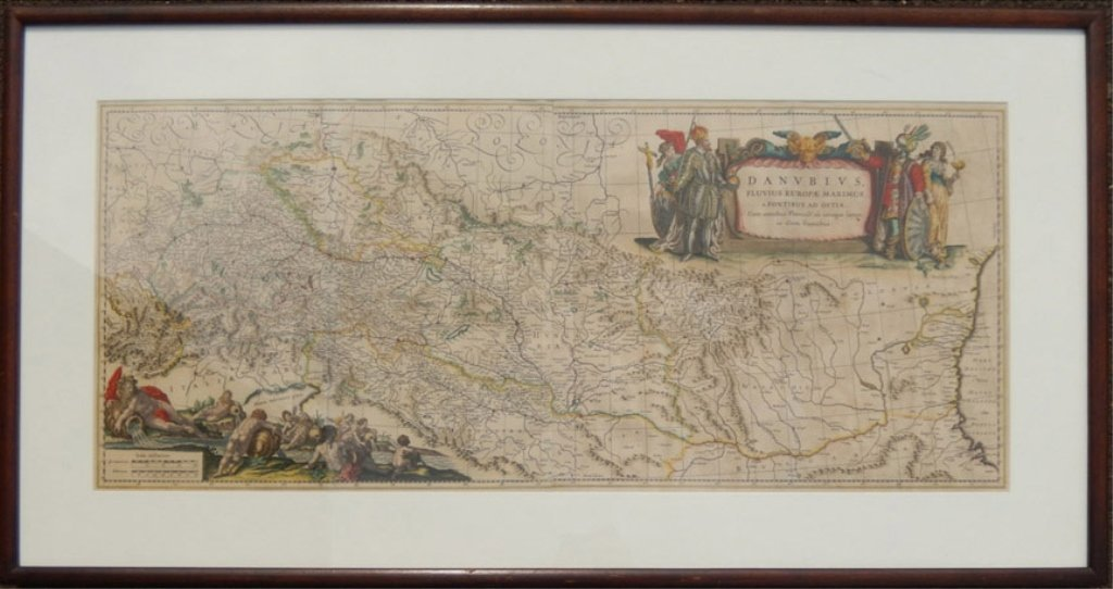 Framed map Danubius Fluvius Maximus, A Fontibus Ad