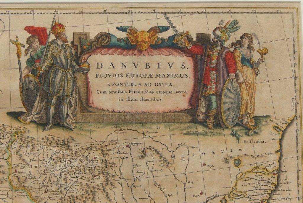 Framed map Danubius Fluvius Maximus, A Fontibus Ad - 2