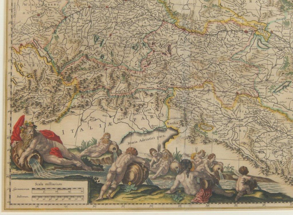Framed map Danubius Fluvius Maximus, A Fontibus Ad - 3