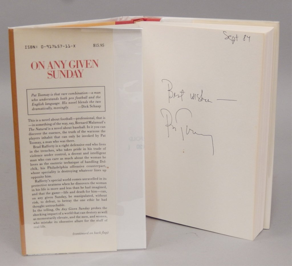 Signed First Edt. On Any Given Sunday by Pat Toomay - 4