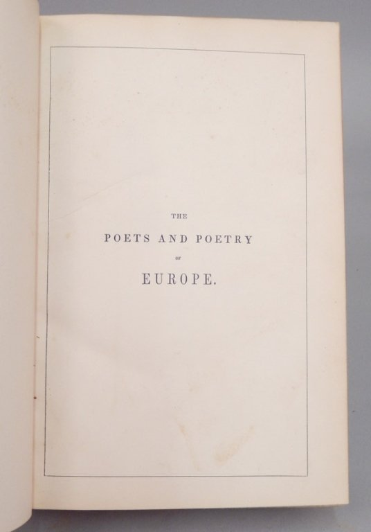 The Poets and Poetry of Europe by Longfellow - 5