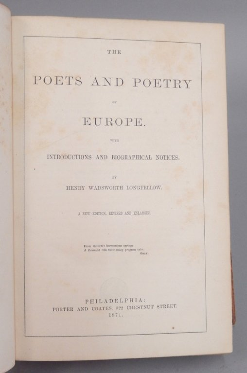 The Poets and Poetry of Europe by Longfellow - 7