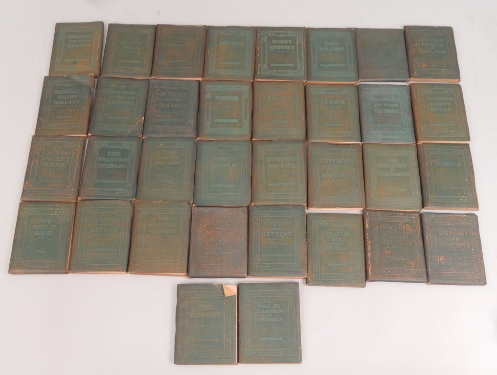 """34 Volumes of the """"Little Leather Library Corporation"""