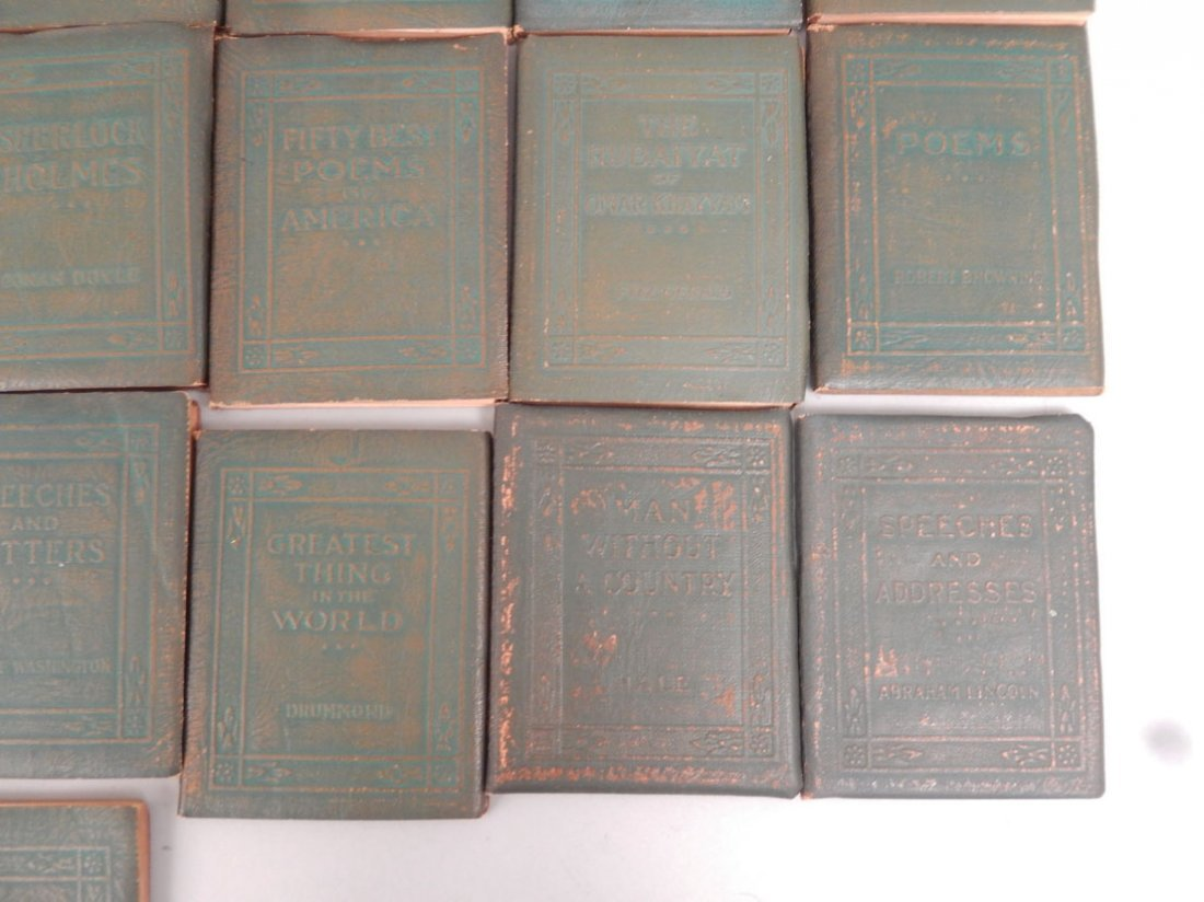 """34 Volumes of the """"Little Leather Library Corporation - 3"""