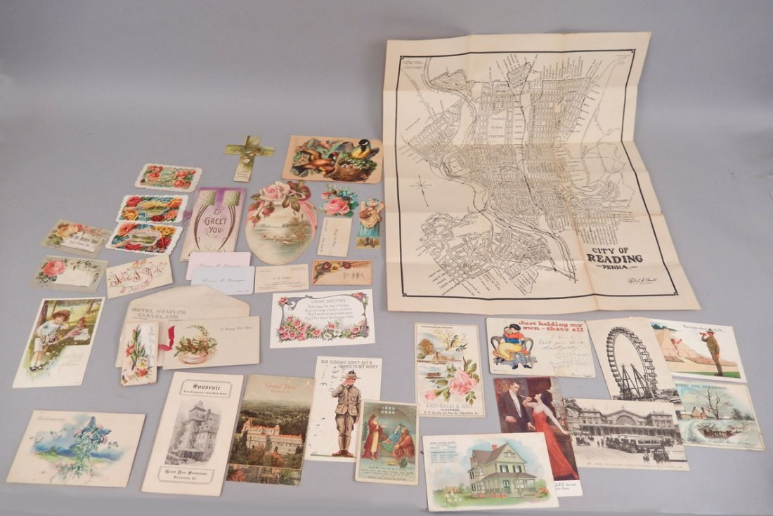 Lot of late 19th & early 20th C. postcards, booklets,