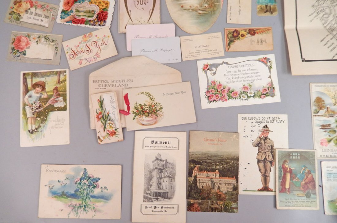 Lot of late 19th & early 20th C. postcards, booklets, - 4