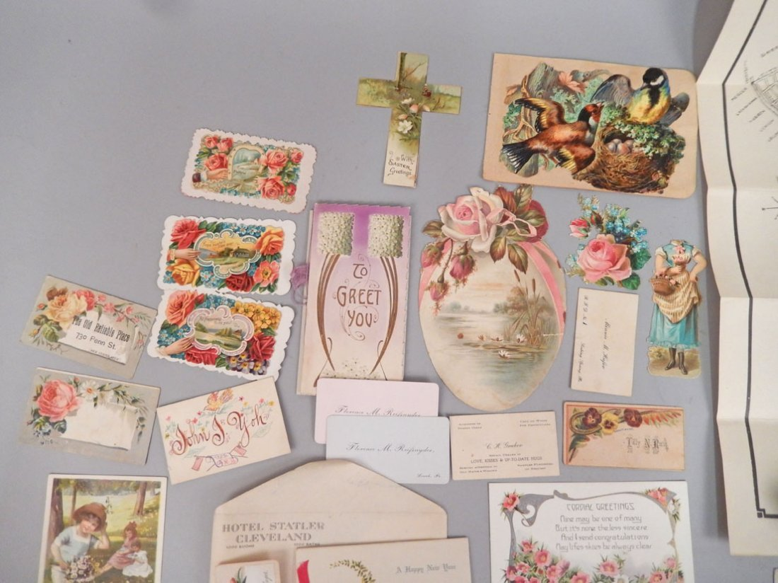 Lot of late 19th & early 20th C. postcards, booklets, - 5