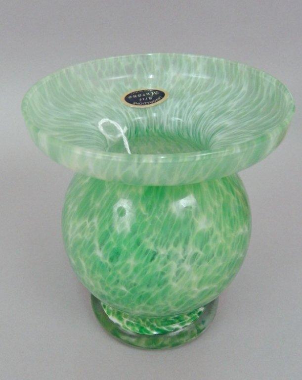 Four art glass vases - 6