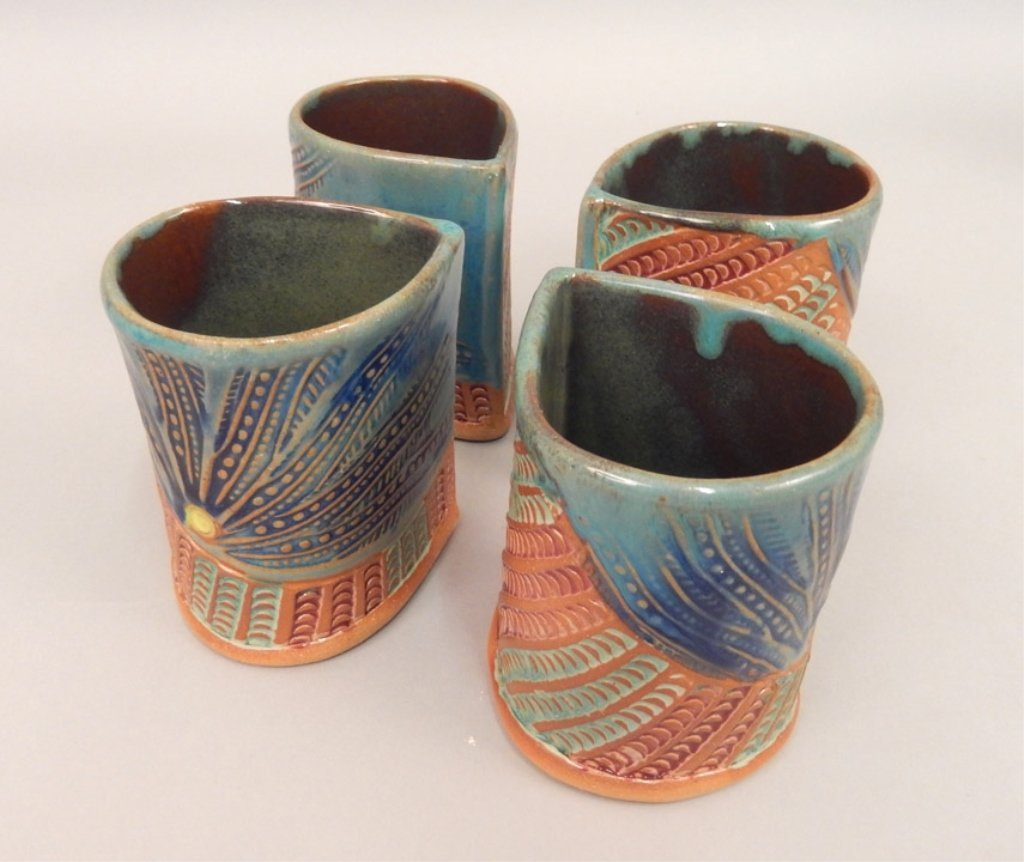 Helene Fielder pitcher and four cups - 4