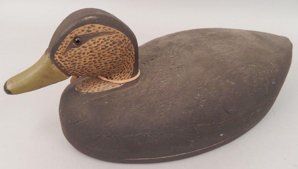 Three wooden Black Duck decoys - 6