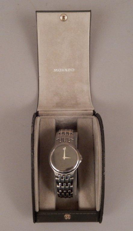 Movado men's wrist watch in case