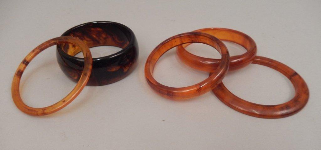 Five bakelite bangles - 2