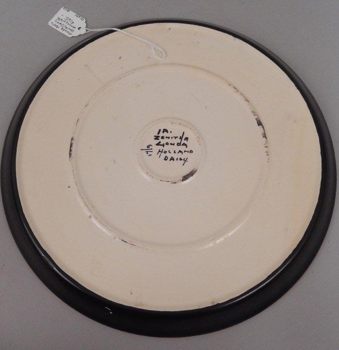 Gouda pottery Daisy plate - 2