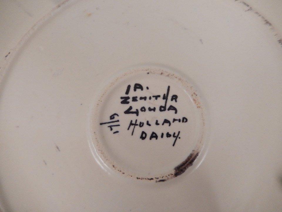 Gouda pottery Daisy plate - 3
