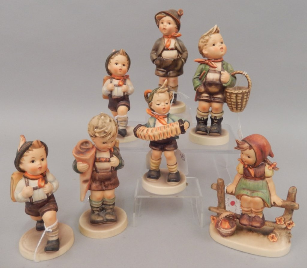 Seven Hummel figurines