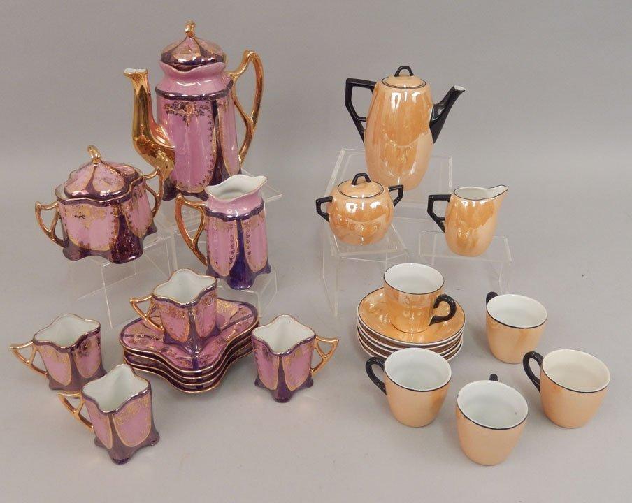 Two demitasse tea sets