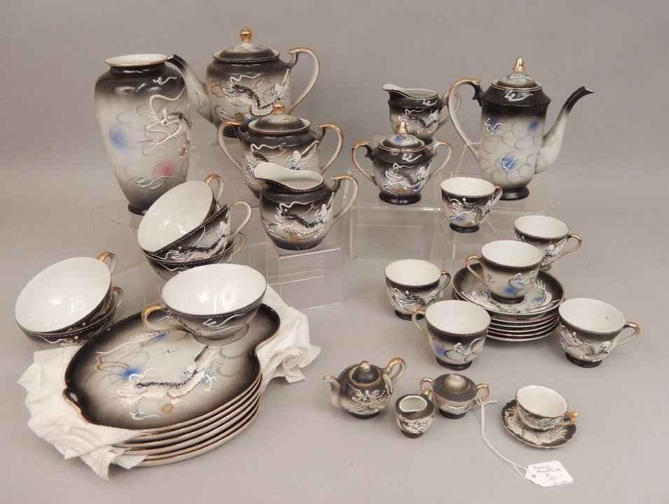 Dragonware luncheon and tea sets