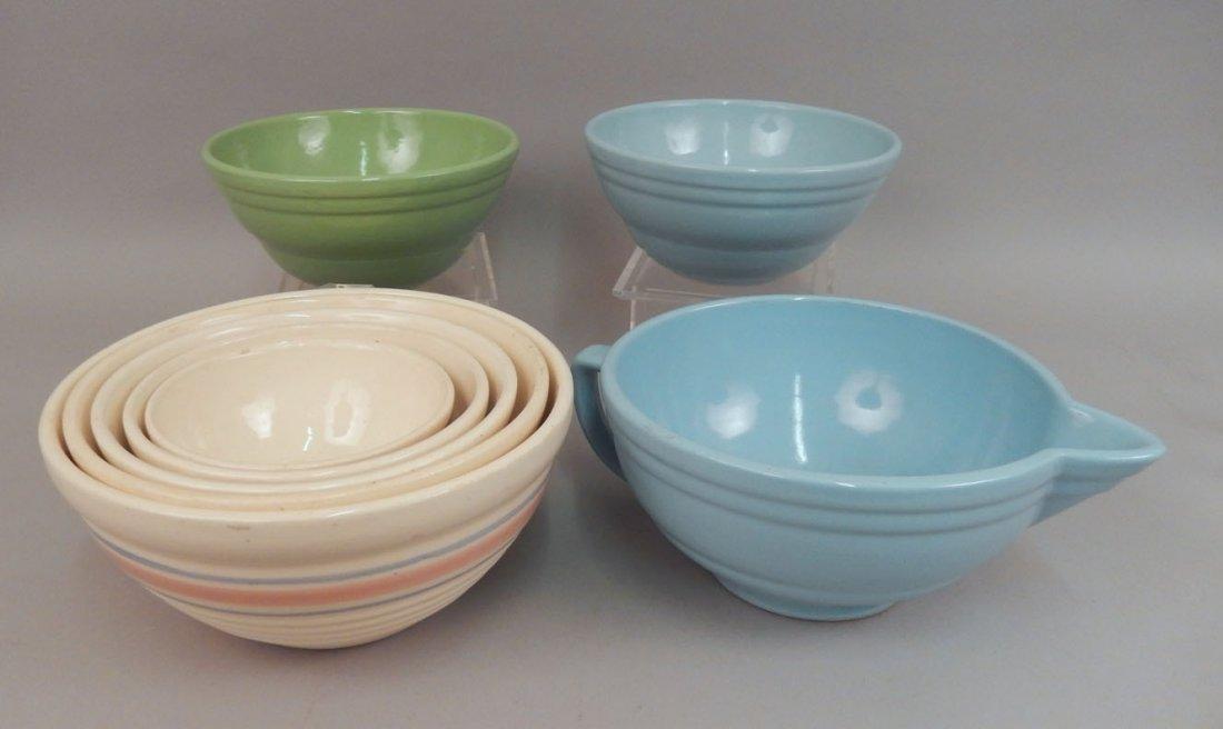 Set of nesting bowls and mixing bowls