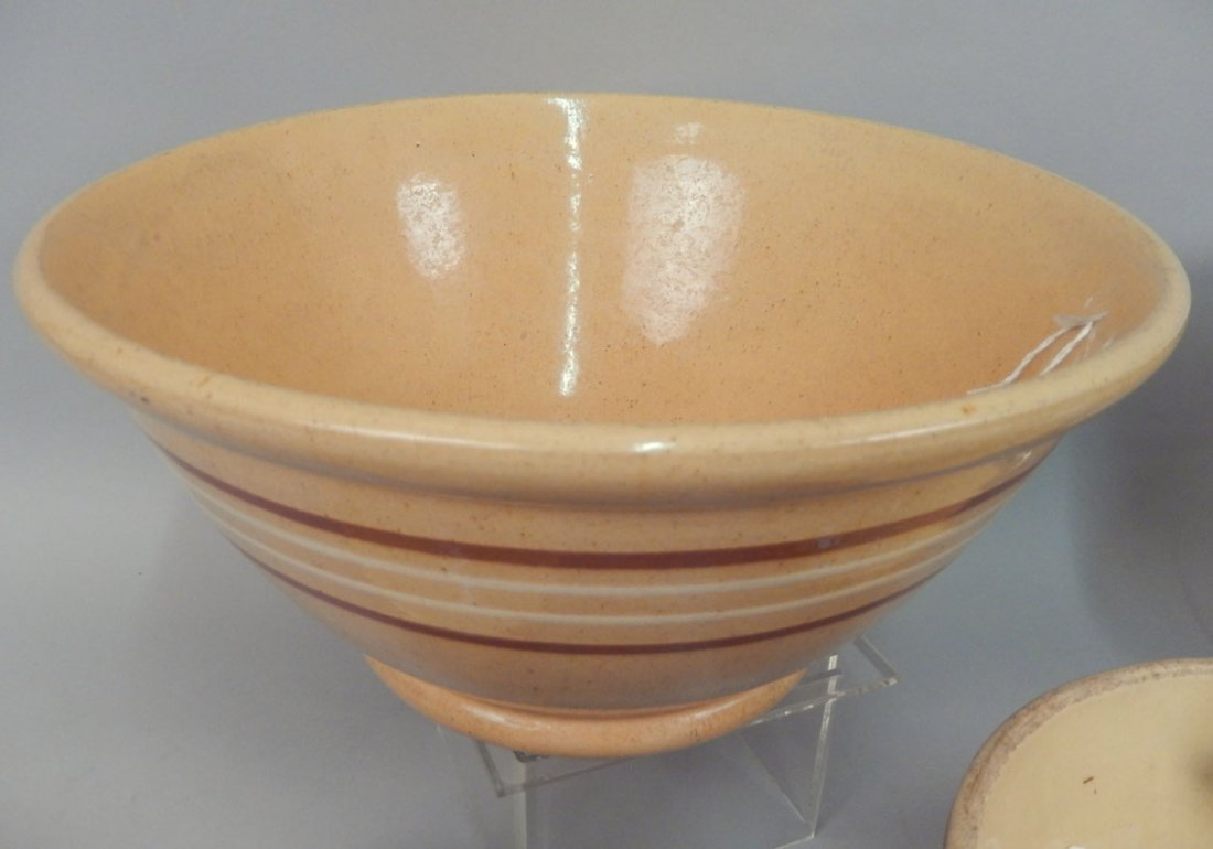 Grouping of yellowware and redware pottery pieces - 2