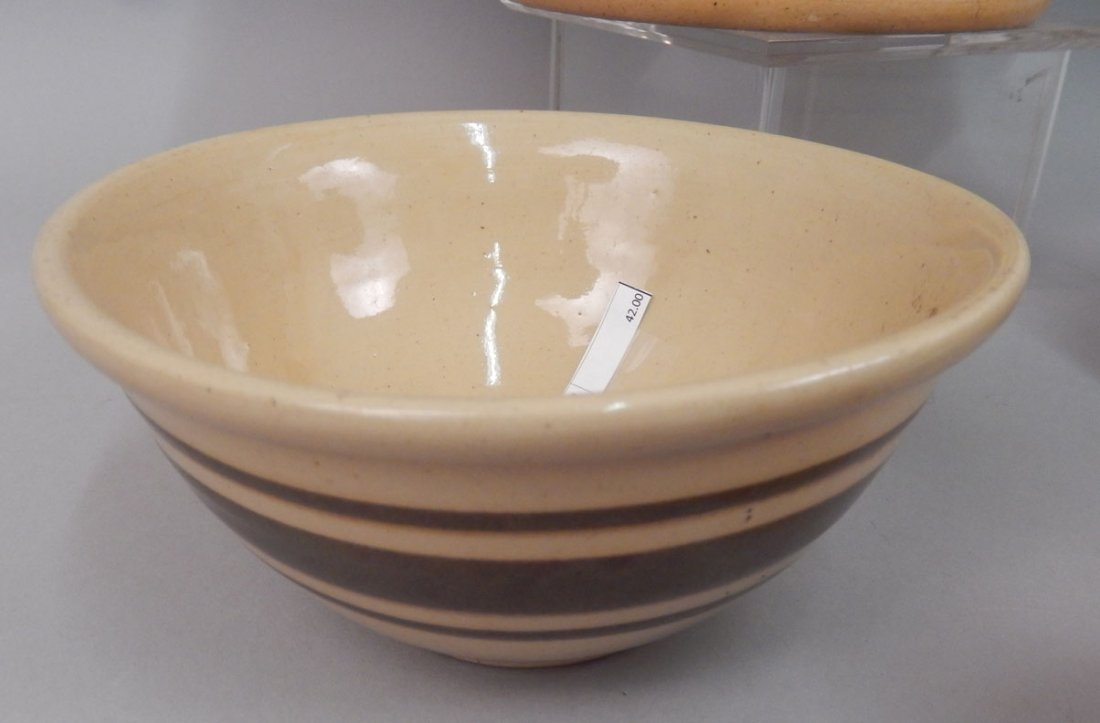 Grouping of yellowware and redware pottery pieces - 3
