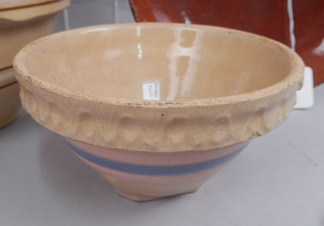 Grouping of yellowware and redware pottery pieces - 6