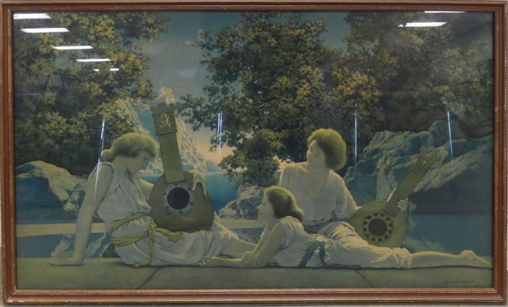 Maxfield Parrish lithograph on paper