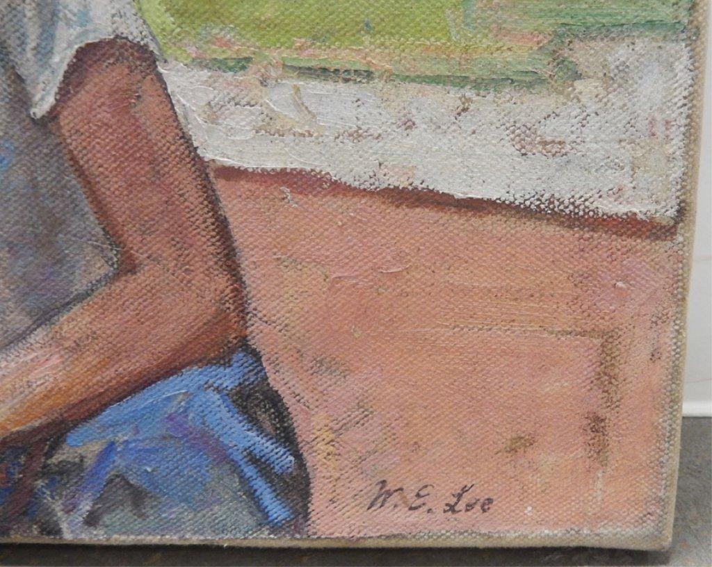 W.(William) E. Lee oil on canvas - 2