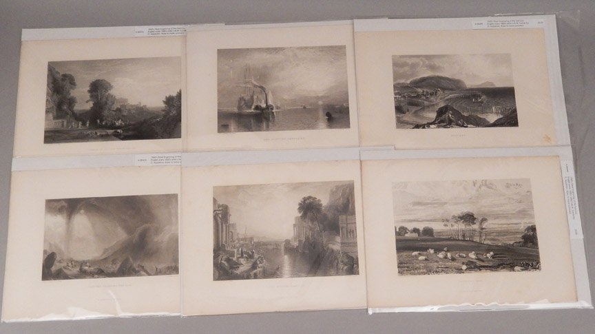 Sixteen J.W.M. Turner steel engravings - 2