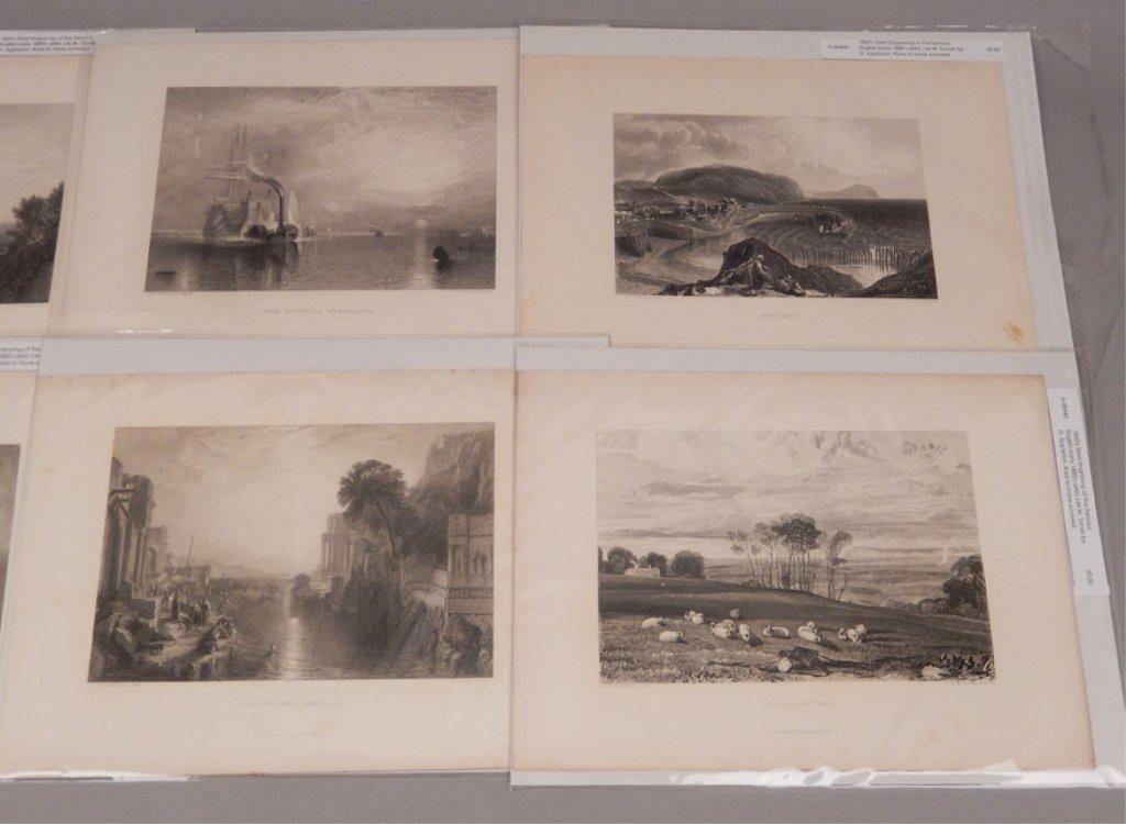 Sixteen J.W.M. Turner steel engravings - 3
