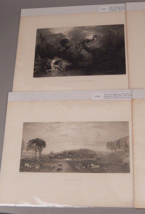 Seventeen J.W.M. Turner steel engravings - 7