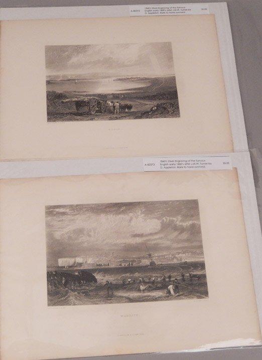 Sixteen J.W.M. Turner steel engravings - 9
