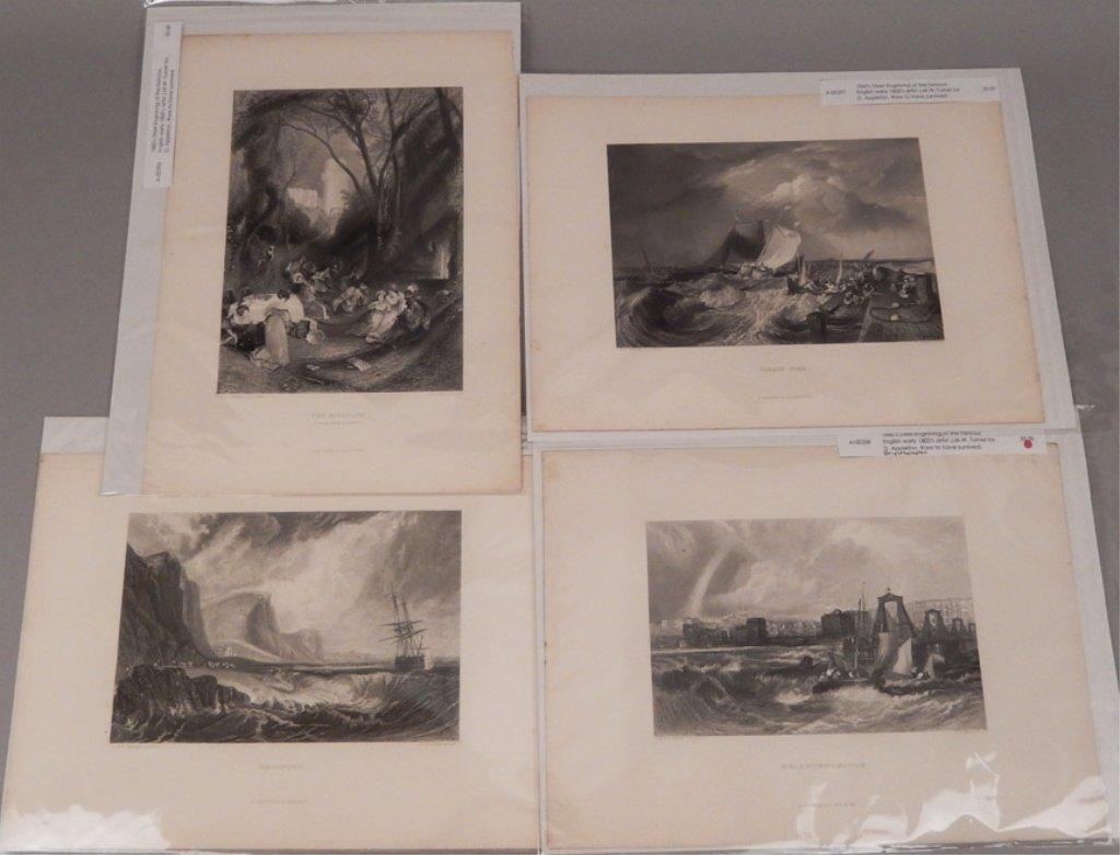 Sixteen J.W.M. Turner steel engravings - 8