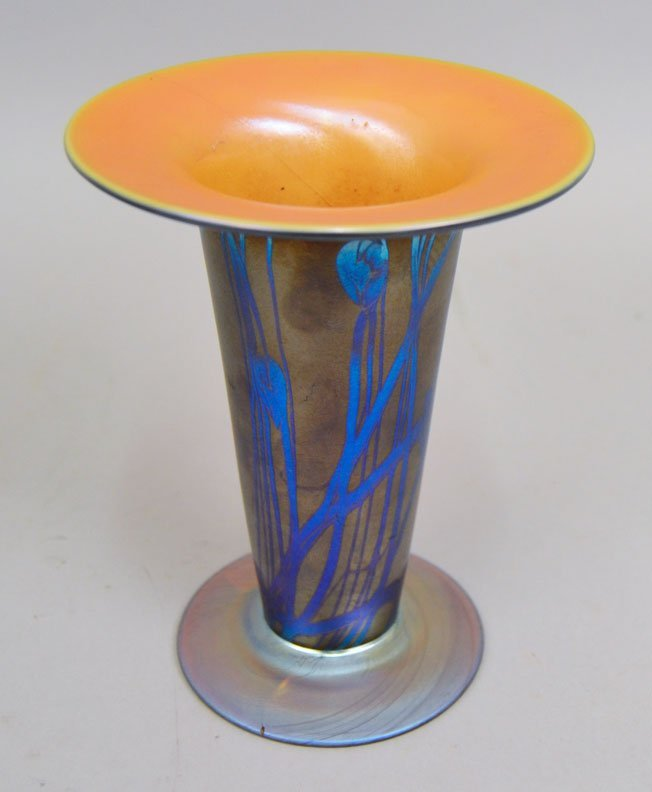 Two art glass vases - 5