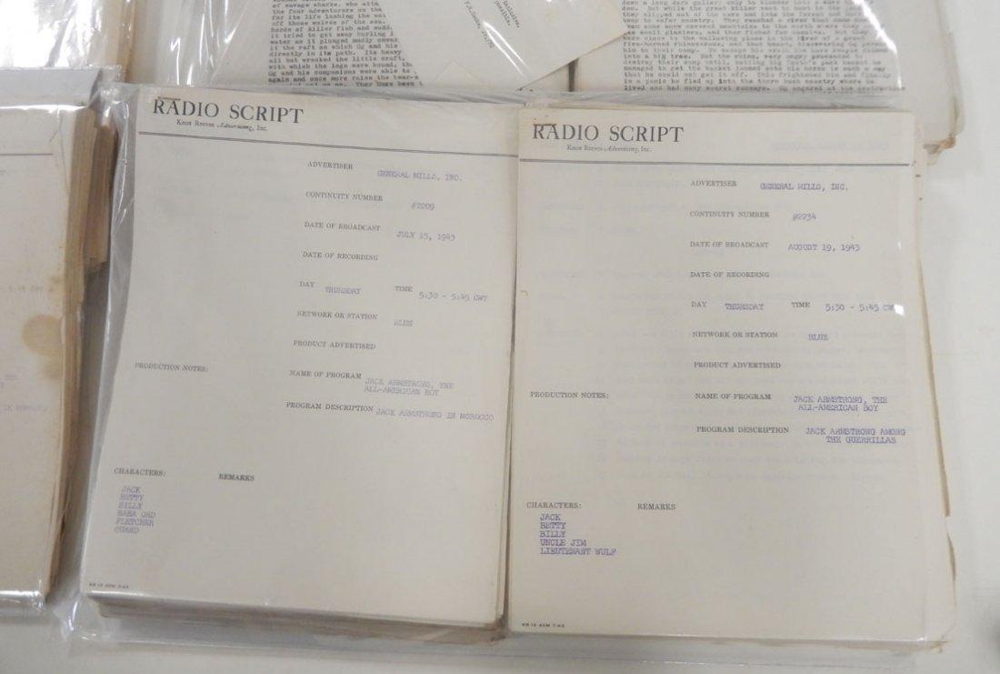 Lot of radio scripts Knox Reeves Advertising, Inc., - 2