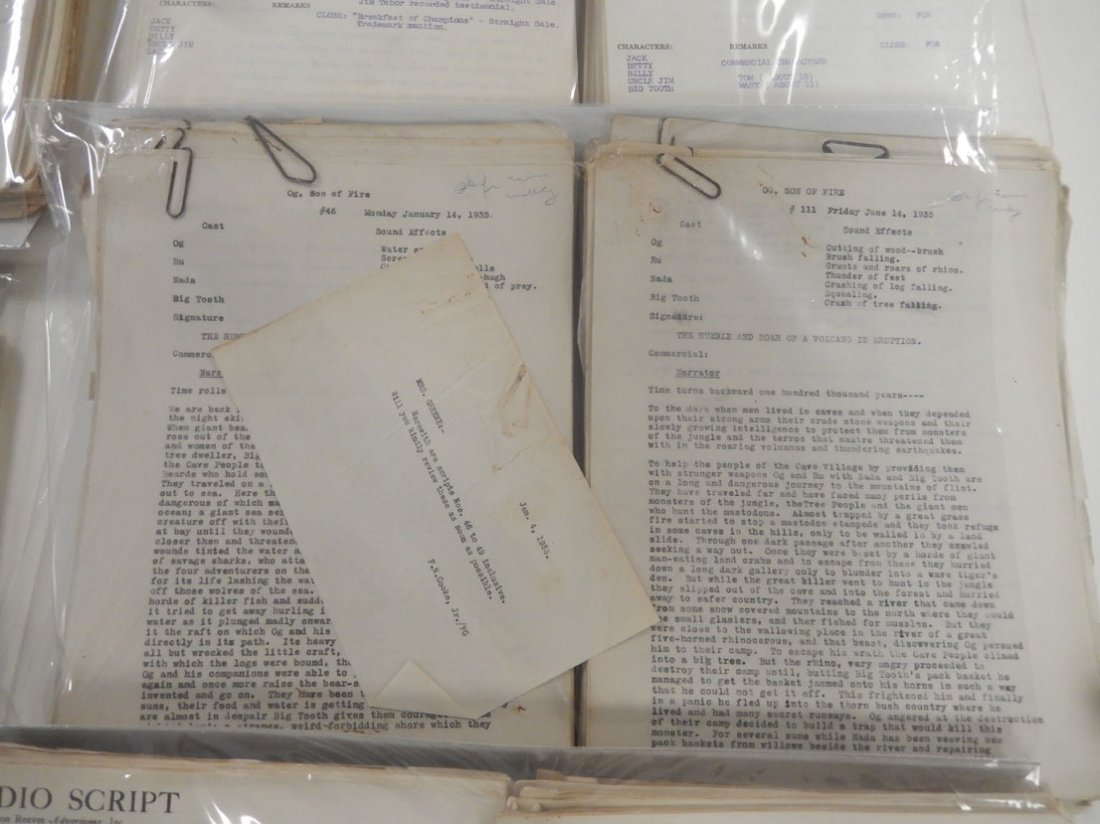 Lot of radio scripts Knox Reeves Advertising, Inc., - 3