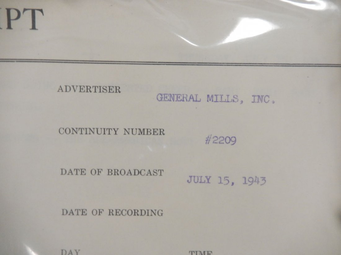 Lot of radio scripts Knox Reeves Advertising, Inc., - 4