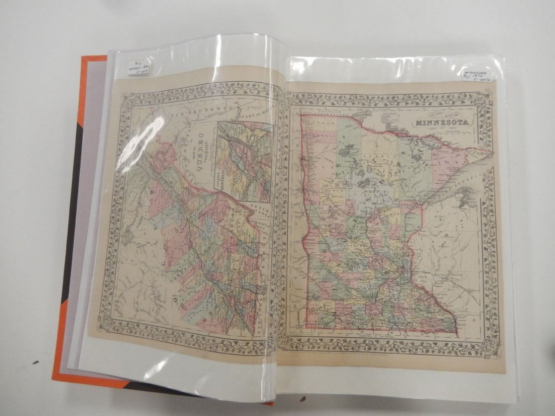 Binder of late 19th and early 20th C. atlas maps, etc. - 2