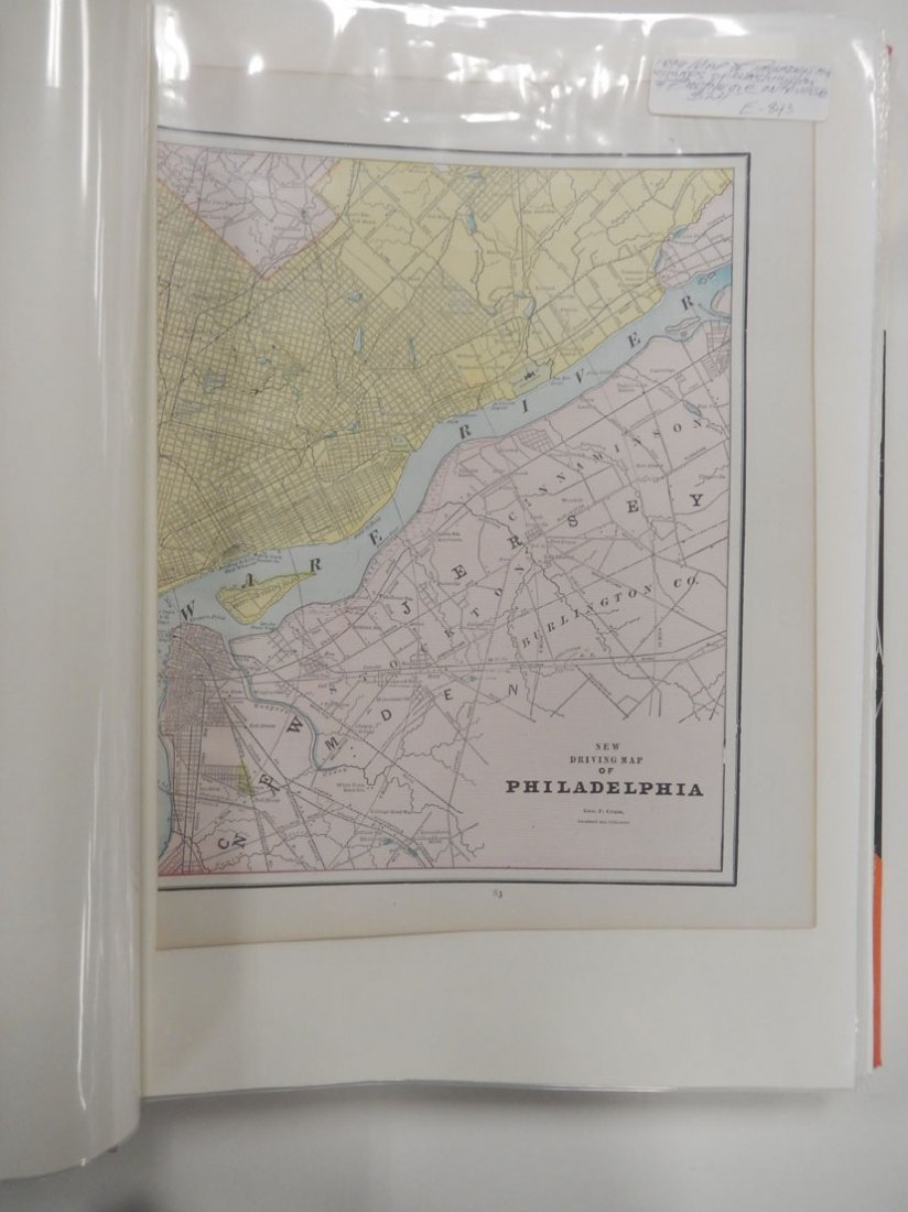 Binder of late 19th and early 20th C. atlas maps, etc. - 3