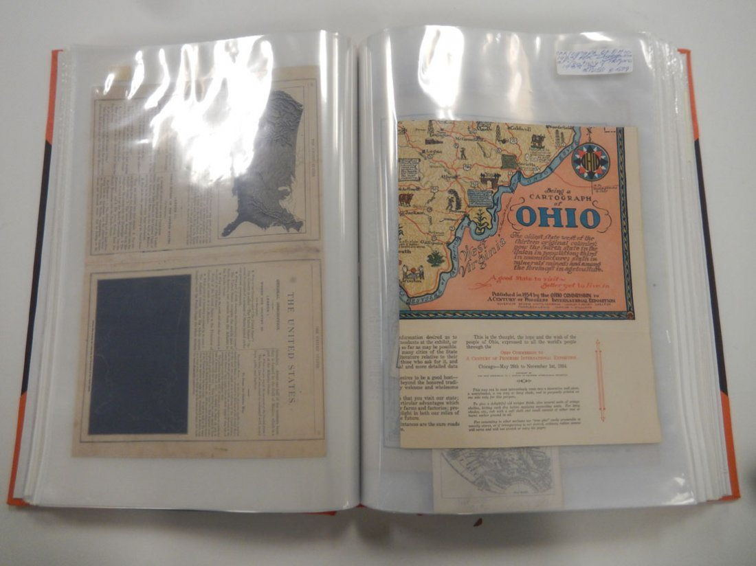 Binder of late 19th and early 20th C. atlas maps, etc. - 5