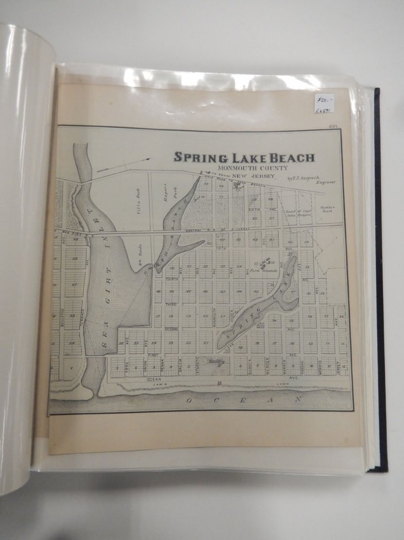 Binder of late 19th C. New Jersey Shore maps - 2