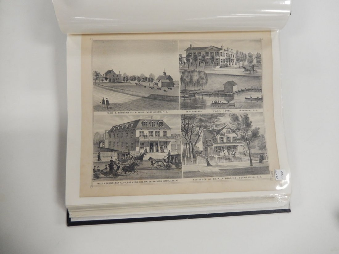 Binder of late 19th C. New Jersey Shore maps - 3